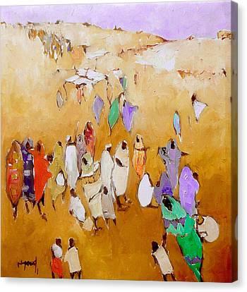 Simple People  Canvas Print by Negoud Dahab