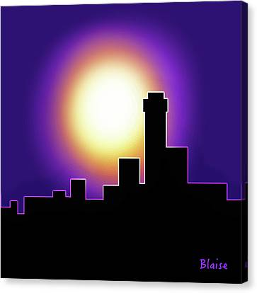 Simple Skyline Silhouette Canvas Print