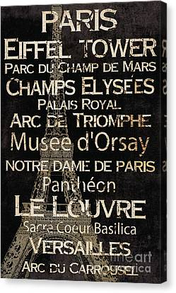 Simple Speak Paris Canvas Print by Grace Pullen