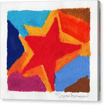 Simple Star Canvas Print by Stephen Anderson