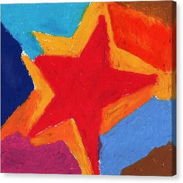 Simple Star-straight Edge Canvas Print by Stephen Anderson