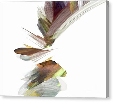 Canvas Print featuring the digital art Simple Strokes by Margie Chapman