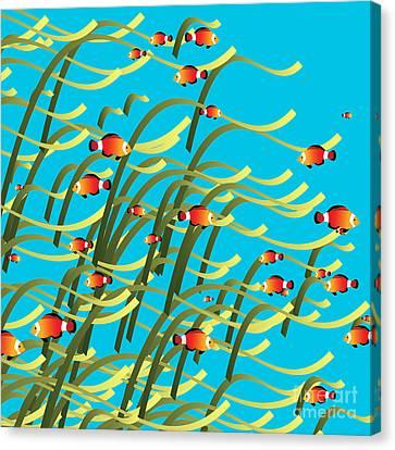 Simple Underwater Scene Canvas Print by Gaspar Avila