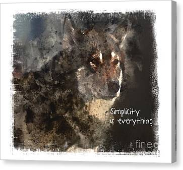 Canvas Print featuring the digital art Simplicity by Elaine Ossipov