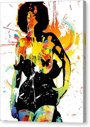 Simplistic Splatter Canvas Print