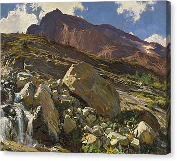 Terrain Canvas Print - Simplon Pass by John Singer Sargent