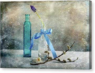 Simply Blue Canvas Print by Randi Grace Nilsberg