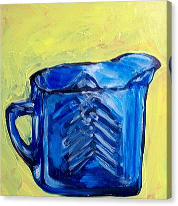 Simply Blue Canvas Print by Sheila Tajima