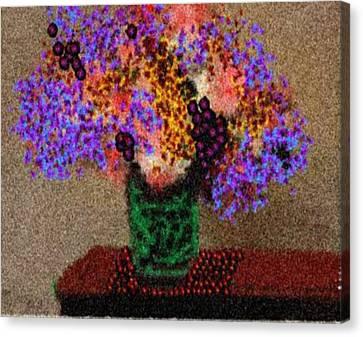 Simply Flowers Canvas Print by Dr Loifer Vladimir