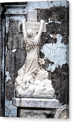 Canvas Print - Simply To Thy Cross I Cling-nola by Kathleen K Parker
