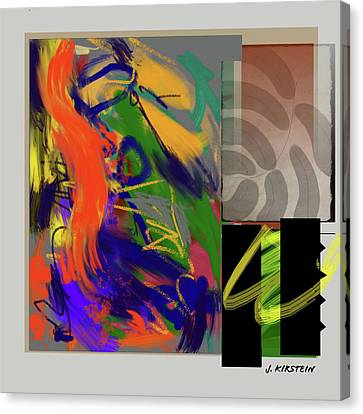 Simultaneous 2 Canvas Print by Janis Kirstein