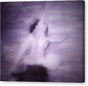 Canvas Print featuring the painting Swan Lake by Jarko Aka Lui Grande