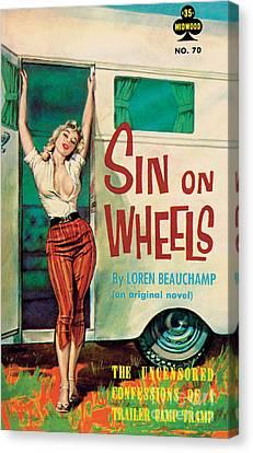 Sin On Wheels Canvas Print