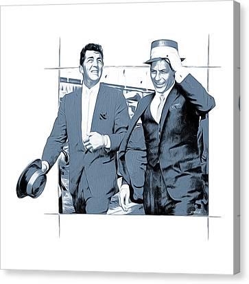 Sinatra And Martin Canvas Print by Greg Joens