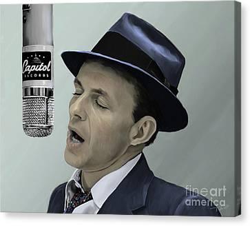 Sinatra - Color Canvas Print by Paul Tagliamonte