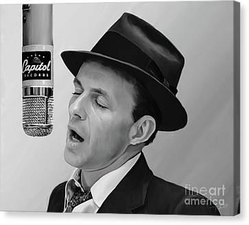 Shower Canvas Print - Sinatra by Paul Tagliamonte