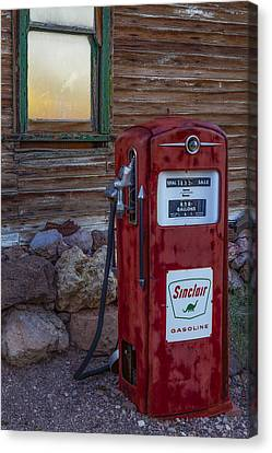 Sinclair Gas Pump Canvas Print by Susan Candelario