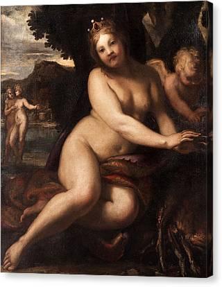 Sine Cerere Et Baccho Friget Venus Canvas Print