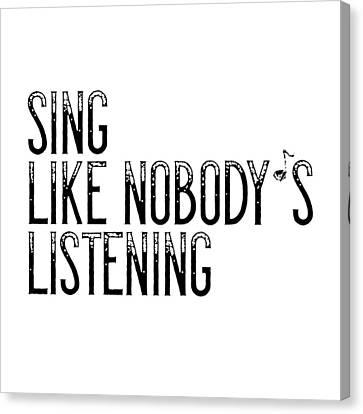 Sing... Canvas Print by Melanie Viola