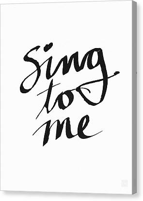 Sing To Me- Art By Linda Woods Canvas Print by Linda Woods