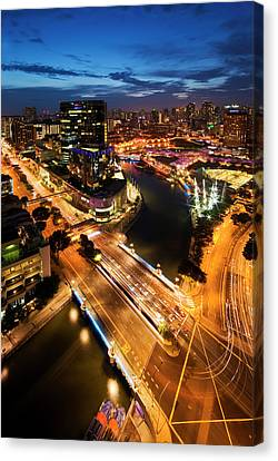 Canvas Print featuring the photograph Singapore - Clarke Quay by Ng Hock How
