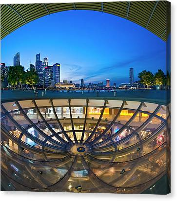 Canvas Print featuring the photograph Singapore - Marina Bay Sands by Ng Hock How