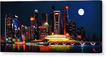 Singapore Aglow Canvas Print