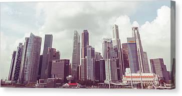Singapore Cityscape The Second Canvas Print by Joseph Westrupp