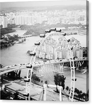Singapore Flyer Canvas Print by Nina Papiorek