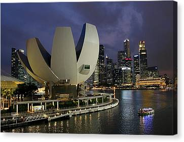 Singapore Harbor Canvas Print by Diane Height