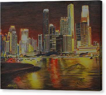 Singapore Nights Canvas Print by Nik Helbig
