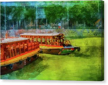 Water Vessels Canvas Print - Singapore River Boats by Joseph Hollingsworth