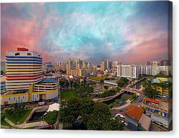 Singapore Rochor Commercial And Residential Mixed Area Canvas Print by David Gn