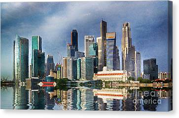 Singapore Skyline Canvas Print by Ian Mitchell