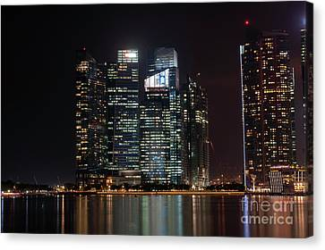 Singapore Skyscrapers Canvas Print by Richard Wareham