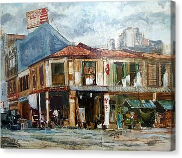 Singapore Street 1967 Canvas Print