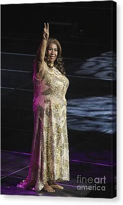 Queen Canvas Print - Singer Aretha Franklin by Concert Photos