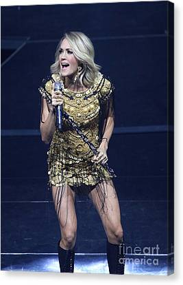 Singer Carrie Underwood Canvas Print by Concert Photos