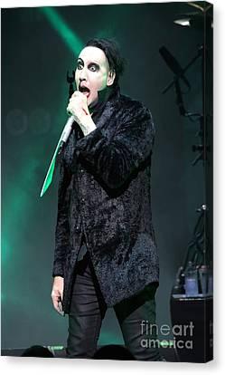 Singer Marilyn Manson Canvas Print by Concert Photos