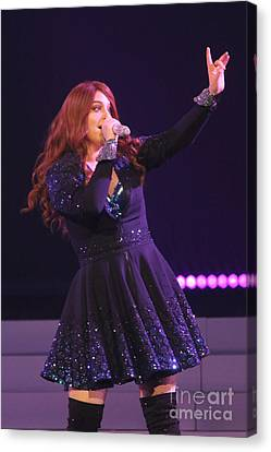 Singer Meghan Trainor Canvas Print by Concert Photos
