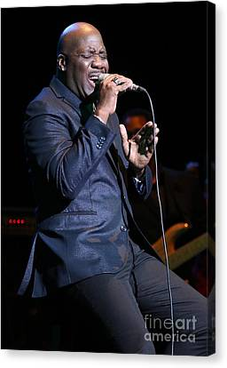 Singer Will Downing Canvas Print by Concert Photos