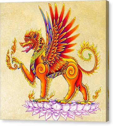 Singha Winged Lion Canvas Print