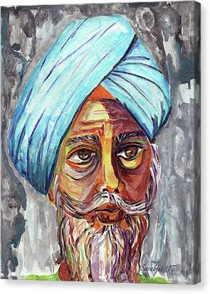 Sikh Art Canvas Print - Singhs And Kaurs-4 by Sarabjit Singh