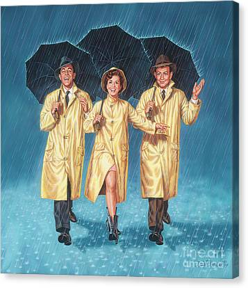 Singin' In The Rain Canvas Print by Dick Bobnick