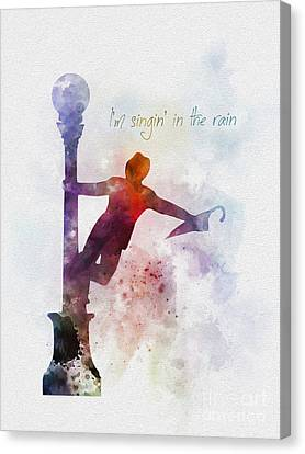 Singing Canvas Print - Singin' In The Rain by Rebecca Jenkins