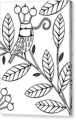 Singing Bird  Canvas Print by Anne Vasko