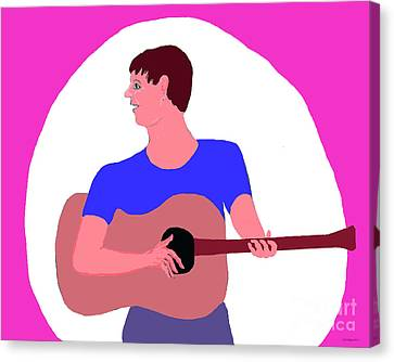 Singing Guitarist Canvas Print