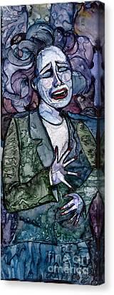 Singing Lady-blues Canvas Print