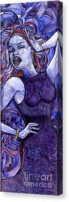 Singing Lady- Jazz Canvas Print