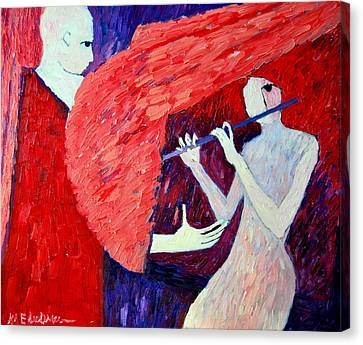 Singing To My Angel 1 Canvas Print by Ana Maria Edulescu